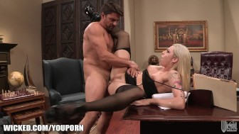 Bailey Blue gets railed in the ass on camera until she cums