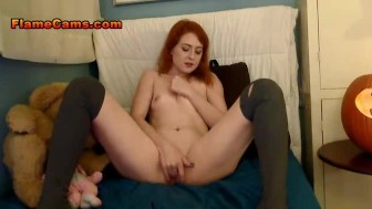 Teenie Tit Redhead In Sexy Stockings