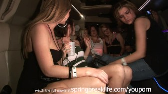 limo ride with hot chicks real amateur lesbians