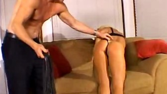 Blonde Honey Gets Those Butt Cheeks Spanked