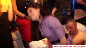 Brunette amateurs fucked at wild party