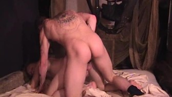 Getting fucked on a sex swing - Factory Video