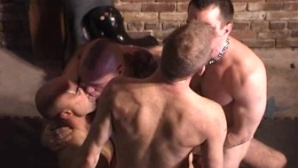 Hairy Hunks Have A Group Fuck - Factory Video