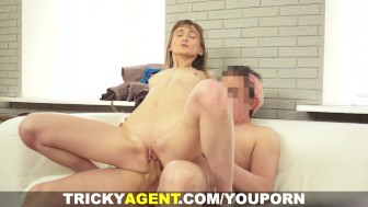 Tricky Agent - Assfucked with her bf downstairs