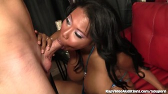 Lusty Ebony Goddess Tricked By Fake Rap Video Agent