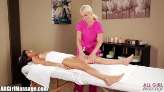 All Girl Massage Megan Salinas oily Lesbian rubdown