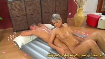 slippery massage orgasm