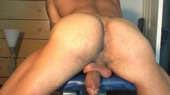 Hey! Why are you getting to wank my huge cock?
