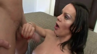 Sexy Tranny Sucking Massive Dick