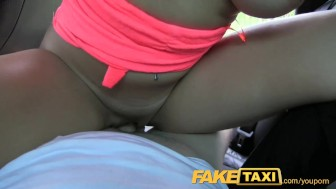 FakeTaxi Stunning brunette enjoys a thick cock