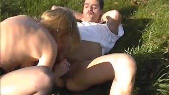 Outdoor anal slut
