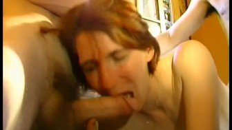 MILF fucked by group of old men - Telsev