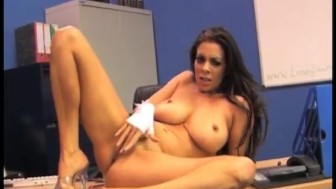 Office slut Linsey Dawn McKenzie finger fucking and toying