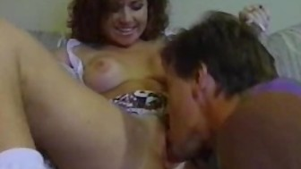 Cock Sucking Curly Haired Amateur