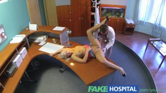 FakeHospital Perfect sexy blonde gets probed and squirts on doctors receptionist desk