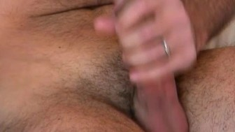 Handsome masculine male getting to suck our assistant in spite of him !