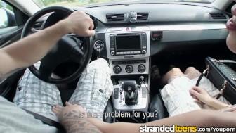 Stranded Teens - Teen Elisabeth needs a ride