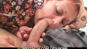 She catches him fucking mother in law