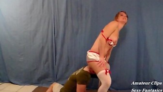 Slut Nurse Makes Patient Give Ass Worship for Payment