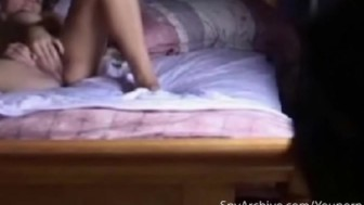 Spy camera in bedroom catched girlfriend masturbating