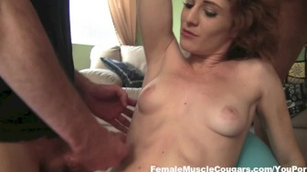 Lucy Fire Sucks and Gets Cum All Over