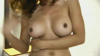 Sapphire Youngs black bikini