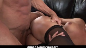 Wild babe Katja Kassin gets her ass pumped