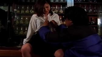 Schoolgirl cutie Tsukasa Okada gets licked uncensored