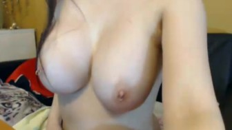 Huge Tits Russian Babe Masturbating