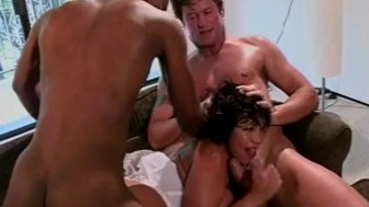 Asian gets dp'd in threesome - Shock Wave