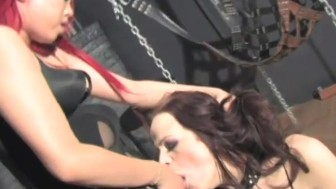 Redhead has her way with her lesbian lover in the dungeon - Dungeon VIP
