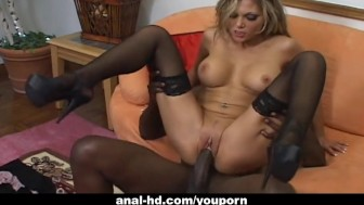 Hot blonde Anna Nova gets blackallized good
