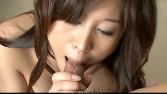 Gorgeous brunette babe Mai Hanano making out and screwed