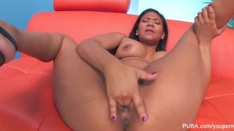 Little Hot Babe Slaps Her Pussy
