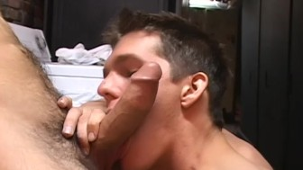2 guys cum on each other's faces - Factory Video