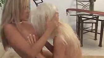Lesbian Girlfriends Lick And Dildo Pussies