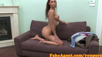 FakeAgent Horny amateur does anal in Casting interview