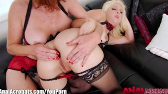 AnalAcrobats Lesbian Anal With Toys