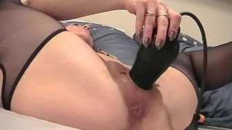 Mature pussy needs massive fisting attack