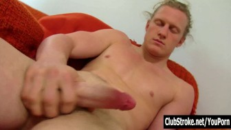 Hot Long Haired Straight Shane Masturbating