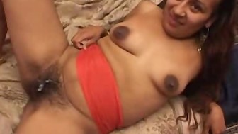 Hairy Pussy Indian Babe Fucked And Jizzed On