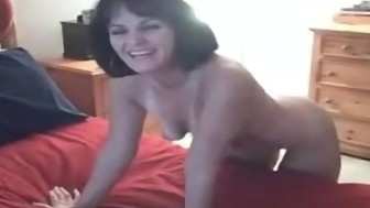 sexy amateur milf babe recorded on camera as she fucks lucky stranger's huge BBC for the first time!!