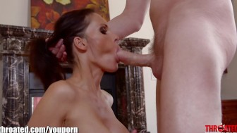 Throated Jennifer Dark is giving me her best deepthroat
