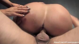 3-way gonzo energetic sex with Alison Tyler