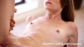 Nubiles Casting - Teen hottie suck and fucks cock for fame