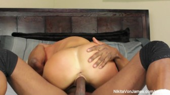 Hot blonde Milf Nikita gets a big black dick to play with