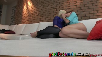 Girlfriends Fit young lesbians big tits make a hot amateur sextape