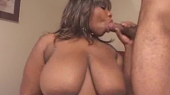 Fingering Ebony BBW Sucks On Two Cock