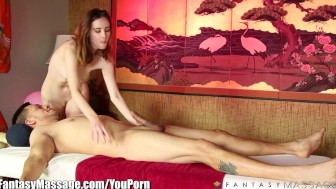 FantasyMassage Cock massage makes huge Load