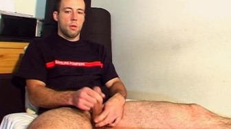 In spite of him !(str8 guy get wanked by a guy.)